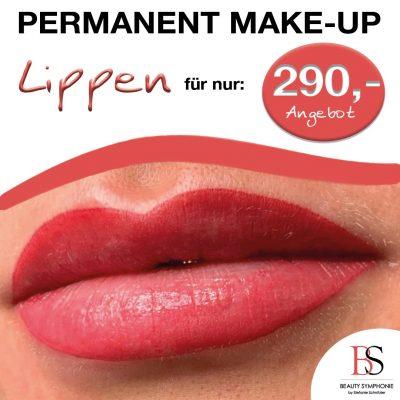 Beauty Symphonie Permanent Makeup Angebot Lippen
